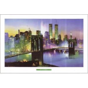 "Kunstdruck ""H. Leung - New York At Night"""