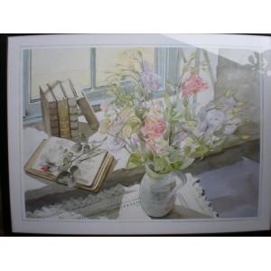 "Kunstdruck ""Nancy Stephenson - Lisianthus"""