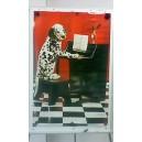 Poster - Hund spielt Klavier