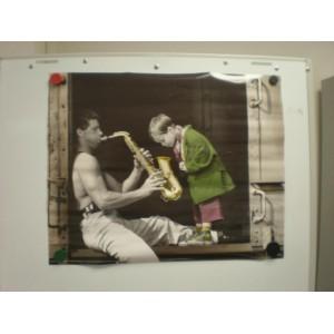 Poster - Mann mit Saxophon