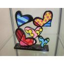 """Original signierte Romero Britto Figur """"Hearts"""""""