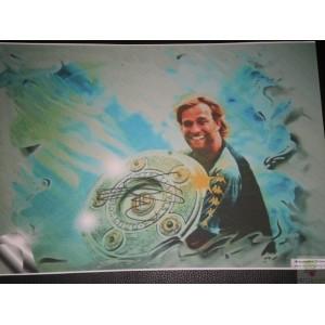 Original signierter BvB 09 Jürgen Klopp Kunstdruck