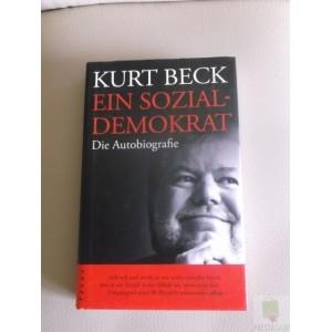 Buch, Kurt Beck signiert, Ein Sozialdemokrat